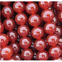 round Red Carnelian Agate beads, approx 6mm dia