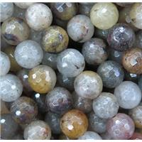 faceted round Lodalite beads, approx 8mm dia