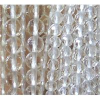 Clear Quartz beads, faceted round, approx 4mm dia