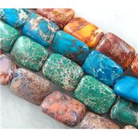Sea Sediment Jasper, mixed color, 13x18mm, 22pcs per st