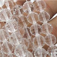 clear Chinese Crystal Glass Beads, faceted round, approx 10mm, 72pcs per st