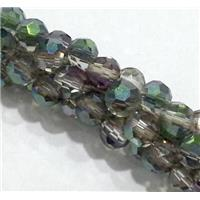 handmade braided chain with chinese crystal glass bead, faceted