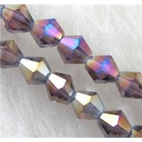 Chinese Crystal Beads, Faceted bicone, colored, 4mm dia, 120pcs per st