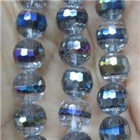 Chinese Crystal Glass beads, faceted round, approx 10mm, 40pcs per st
