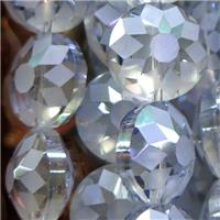 chinese crystal glass bead, faceted square, approx 18mm dia, 15pcs per st