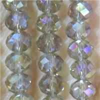 chinese crystal bead, faceted rondelle, approx 3x4mm, 150 pcs per st