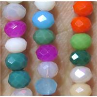 chinese crystal bead, faceted rondelle, approx 4x6mm. 100 pcs per st
