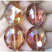 Chinese Crystal Beads, faceted oval, approx 13-23mm, 15pcs per st