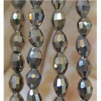Chinese Crystal Beads, faceted oval, approx 3x5mm. 100pcs per st