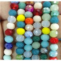 chinese crystal bead, faceted rondelle, approx 6mm dia, 100pcs per st