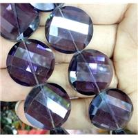 chinese crystal bead, faceted, twist round, approx 18mm dia, 20pcs per st