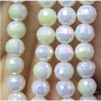 chinese crystal bead, faceted round, approx 6mm dia, 98pcs per st