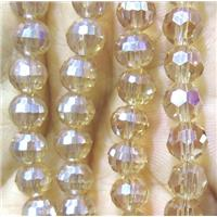 chinese crystal bead, faceted round, approx 8mm dia, 70pcs per st