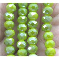 Chinese crystal glass bead, faceted rondelle, approx 6mm dia, 100pcs per st