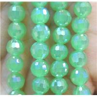 Chinese crystal glass bead, faceted round, approx 6mm dia, 72pcs per st