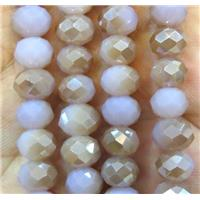 Chinese crystal glass bead, faceted rondelle, approx 8mm dia, 72pcs per st