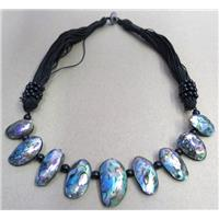 Paua Abalone shell necklace collar