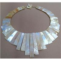 freshwater shell pearl necklace collar