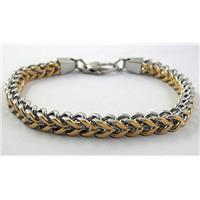 Stainless steel Bracelet, 7x6mm, 22cm (8.5 inch) long