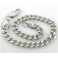 Stainless steel Bracelet, approx 6x9mm,9 inch (23cm) long