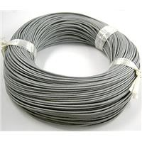 Gray Leather Cord For Jewelry Binding, 2mm dia
