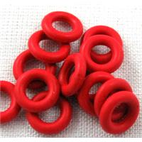 Rubber bead, O-ring style, red