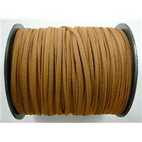 Synthetic Suede Cord, brown, approx 3mm wide, 100yards per roll