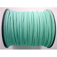Synthetic Suede Cord, aqua, approx 3mm wide, 100yards per roll